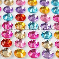 Декоративные стразы наклейки разноцветные 14 * 10 см