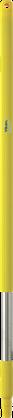Ручка из нержавеющей стали, Ø31 мм, 1025 мм, желтый цвет, фото 2