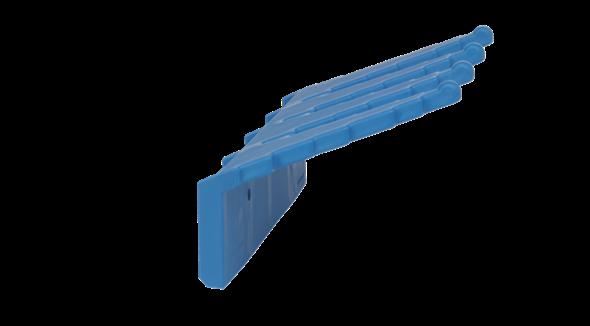 Настенный держатель для инвентаря, 240 мм, синий цвет