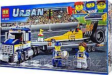 Конструктор bela 10650 Сити Грузовик для перевозки драгстера: - аналог LEGO City (Лего Сити) 60151