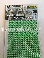 Декоративные стразы наклейки зеленые 32х11см