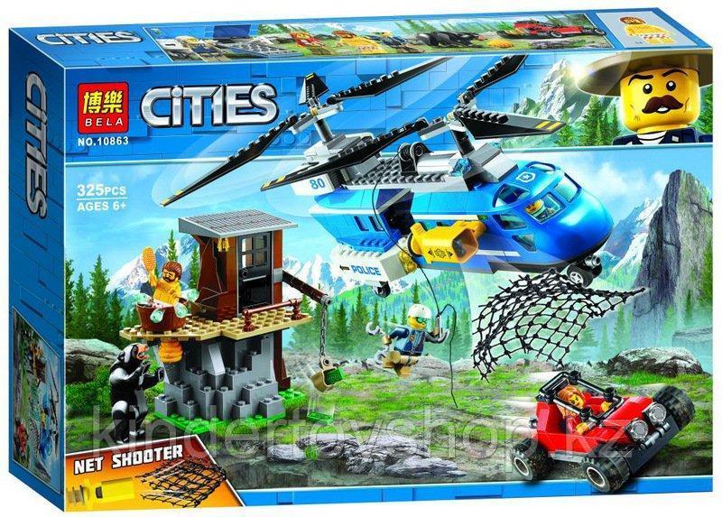 Конструктор BELA 10863 Cities Погоня в горах (Аналог LEGO City 60173) 325 дет.