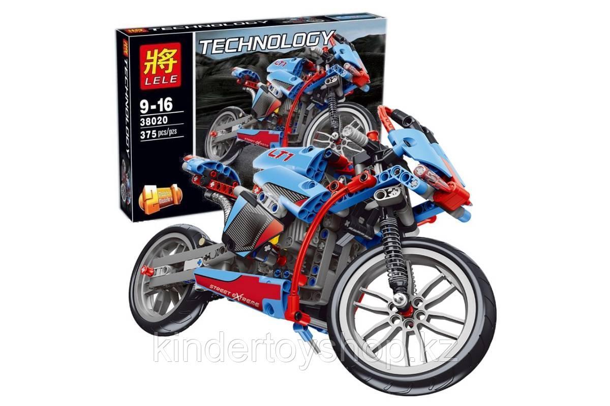 Конструктор LELE 38020 Technology Спортбайк (Аналог LEGO Technic 42036) 375 дет