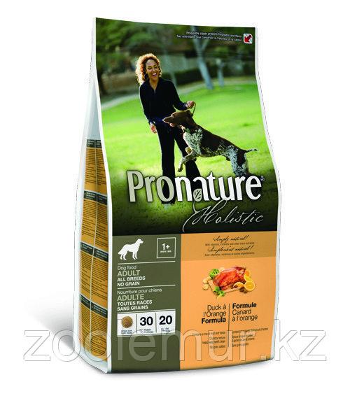 Pronature Holistic Adult All Breeds  беззерновой - для собак, утка с апельсином 2,72 кг.