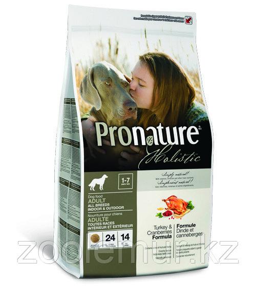 Pronature Holistic Adult All Breeds сухой корм для собак с индейкой и клюквой  2,72 кг.