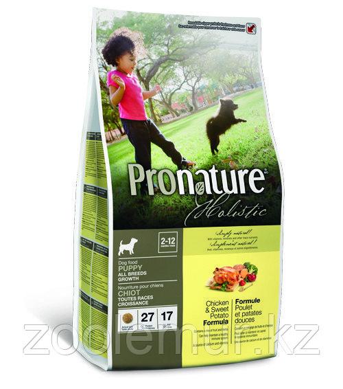 Pronature Holistic Puppy All Breeds для щенков, курица со сладким картофелем 2,72 кг.