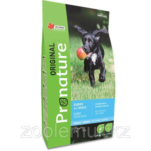 Pronature Original NEW Сухой корм для щенков всех пород (с курицей и овсом) 340 гр