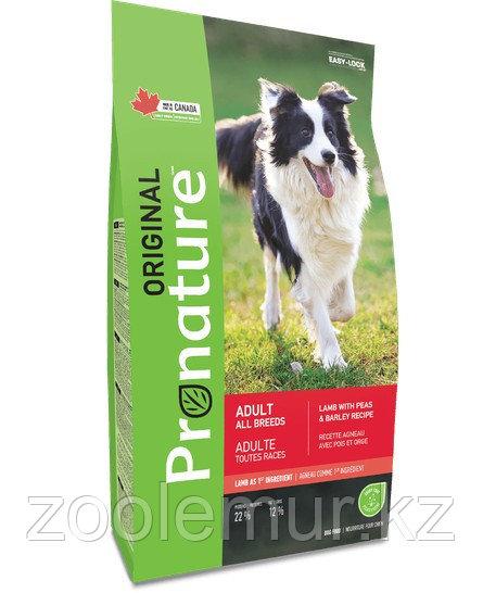 Pronature Original NEW Сухой корм для взрослых собак всех пород (с ягнёнком, горохом и ячменём) 340 гр