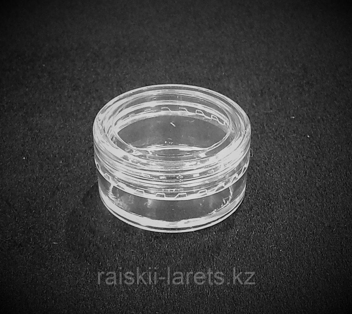 Баночка для мелочей  d=3*1,5 см прозрачная