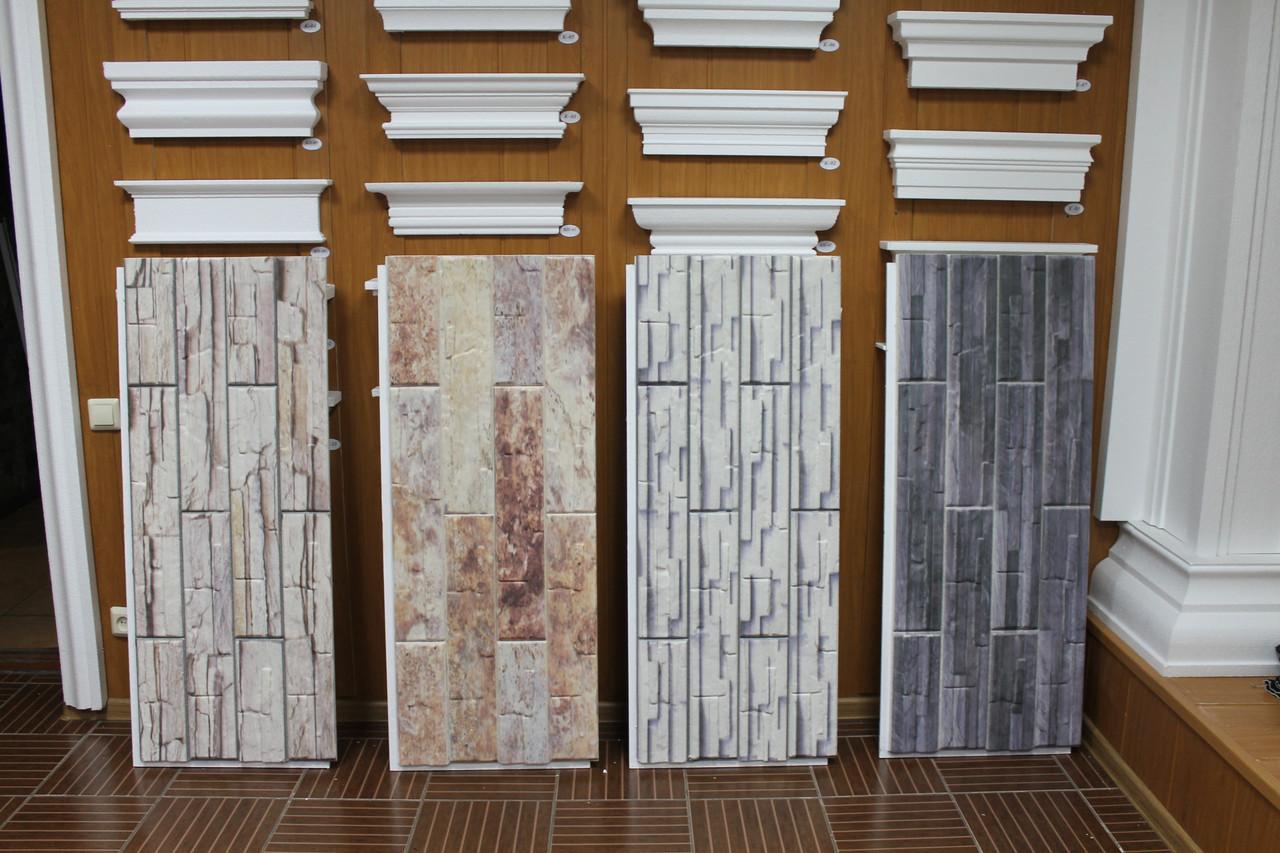 Фасадные панели с имитацией рваного камня