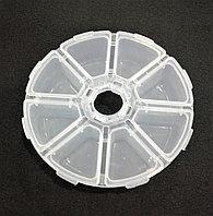 Контейнер круглый 10*10*2,5 см полупрозрачный