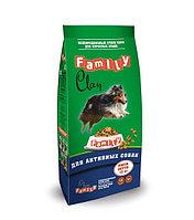 Clan Family сухой корм для взрослых активных собак с курицей 15кг
