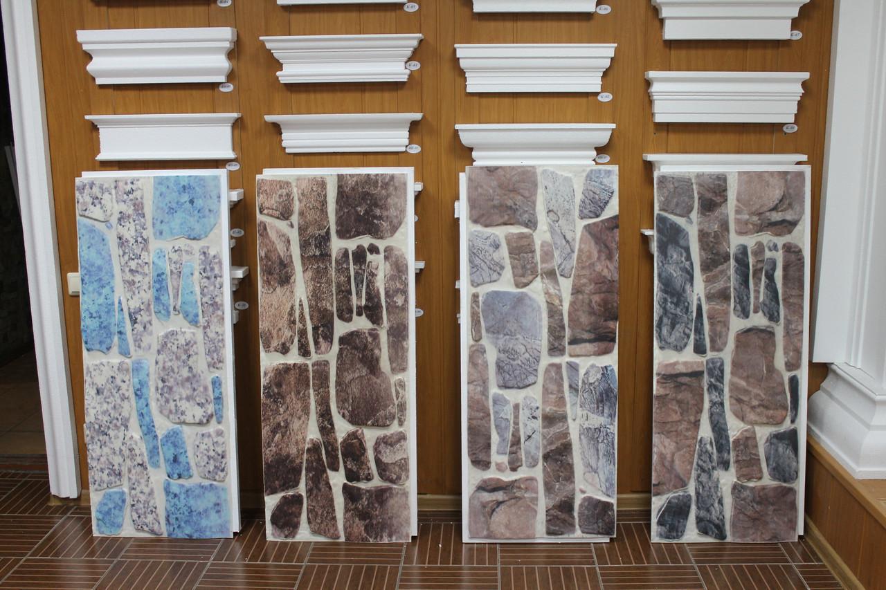 Фасадные панели с имитацией булыжного камня