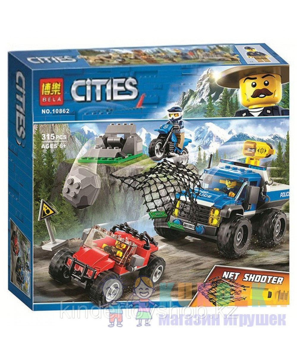 """Конструктор Bela 10862 (аналог Lego City 60172) """"Погоня по грунтовой дороге"""", 315 дет"""