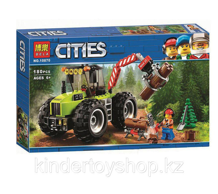 """Конструктор Bela 10870 Cities """"Лесной трактор"""" (аналог LEGO 60181)"""