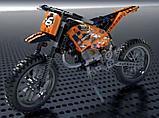 Конструктор LELE 38041 Technic Кроссовый мотоцикл 38041 (Аналог LEGO Technic 42007) 253 дет, фото 2