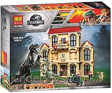 Конструктор  Bela 10928 Нападение Индораптора в поместье Локвуд аналог Lego 75930