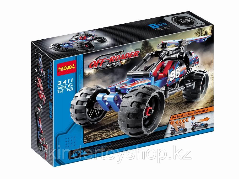 """Конструктор Decool 3411 """"Внедорожный гоночный автомобиль"""" (аналог Lego Technic 42010) 160 дет"""