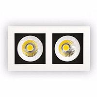 Светодиодный поворотный светильник 2*8 WATT-2700K