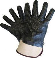 Утепленные перчатки с покрытием из гранулированного ПВХ (манжет жесткая крага)
