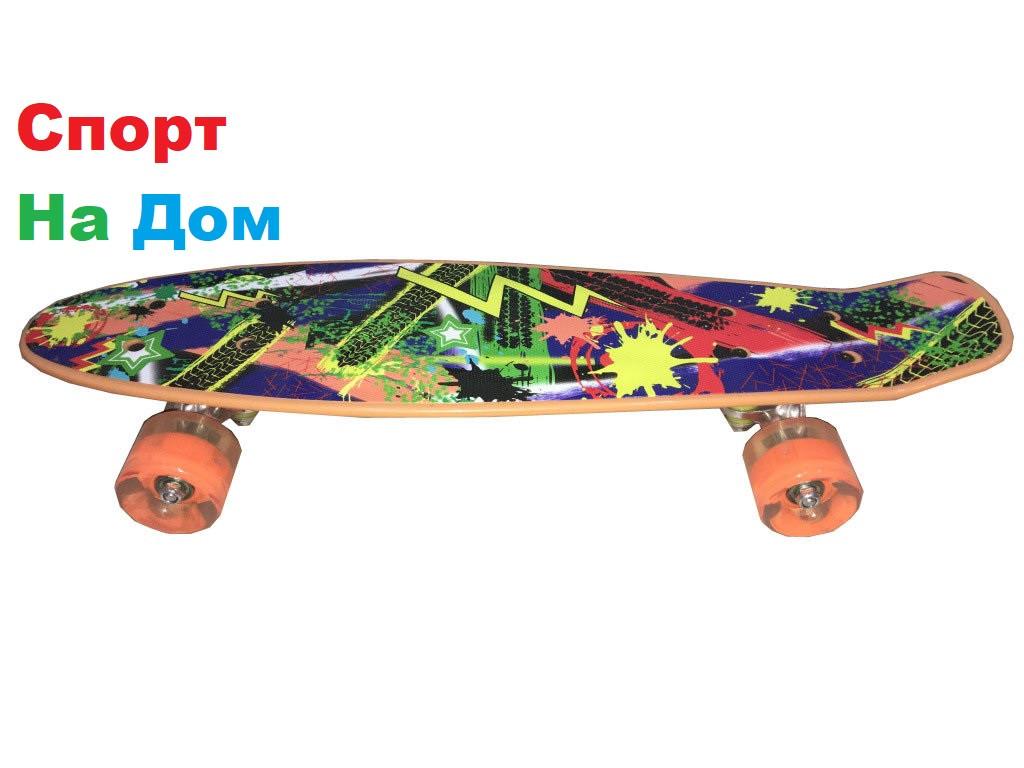 Пенни Борд (Penny Board)с ярким дизайном (пластборд)