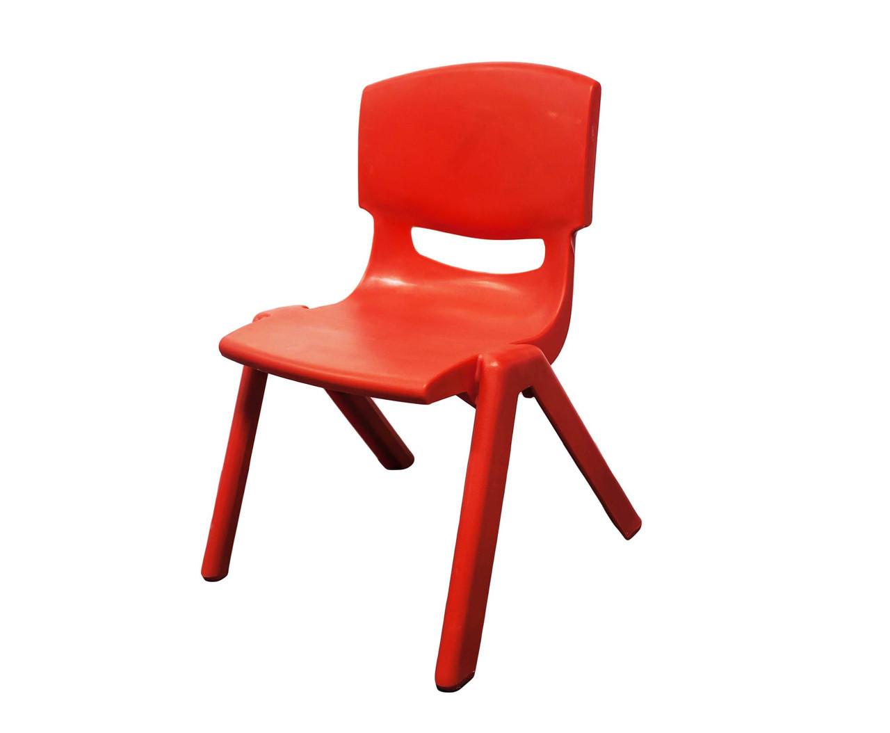 Стул детский пластиковый, красный, 32*53 см