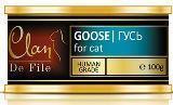 CLAN De File 100 г Гусь влажный корм для кошек