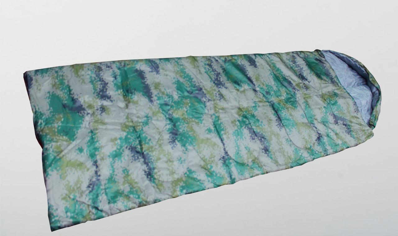 Спальный мешок цифровой, зеленый