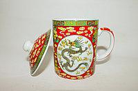 """Кружка для заваривания трав, """"Красный дракон"""", керамика"""