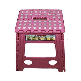 Мультистул - складной табурет-подставка, 28*40 см, розовый
