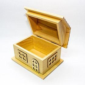 """Заготовка для декора """"Шкатулка-домик"""", деревянная, 16*11 см"""