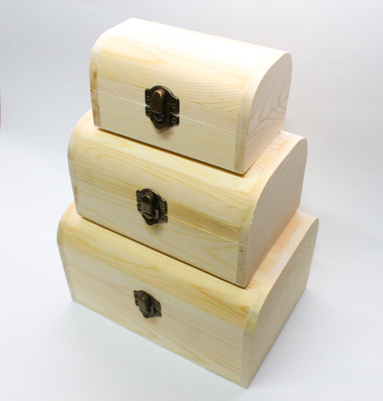 """Заготовка для декора """"Шкатулка-сундучок"""", деревянная, 3в1 - фото 1"""