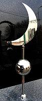 Полумесяц мусульманский с шаром из качественной нержавейки