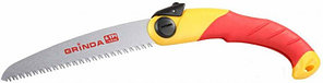 Ножовка GRINDA садовая, шаг зуба 4,0 мм (6 TPI), длина полотна 190 мм, 3-D заточка, складная