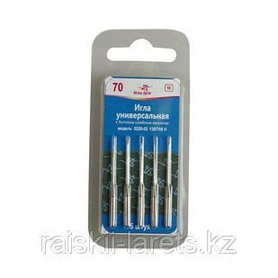 Иглы универсальные к бытовым швейным машинам модель 0220-02 размер 70