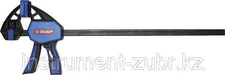 """Струбцина ЗУБР""""ПРОФЕССИОНАЛ""""ручная пистолетная, корпус нейлон,армир фиберглассом,метал рейка,450/645мм,150кгс, фото 2"""