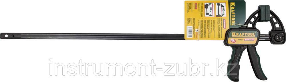 """Струбцина """"EcoKraft"""" ручная пистолетная, KRAFTOOL 32226-60, пластиковый корпус, 600/800мм, 150кгс"""