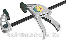 """Струбцина """"EcoKraft"""" ручная пистолетная, KRAFTOOL 32228-45, металлический корпус, 450/650мм, 200кгс, фото 3"""