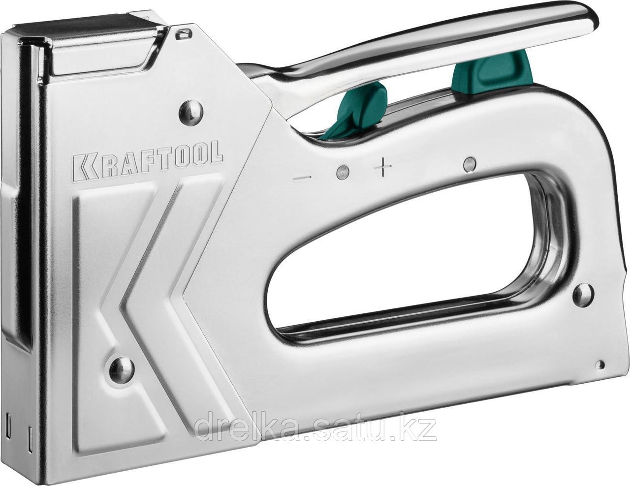 "Степлер для скоб ""GRAND 140"" 3-в-1: тип 140 (6-16 мм) / 300 (16 мм) / 500 (16 мм), KRAFTOOL"