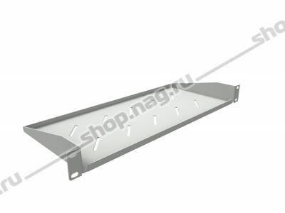 Полка консольная для шкафов глубиной 400мм, (глубина полки 200мм) распределенная нагрузка 20кг, цвет-серый (SN