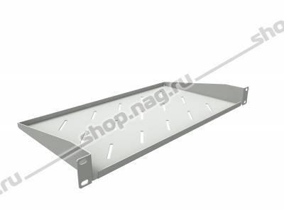 Полка консольная для шкафов глубиной 400мм, (глубина полки 250мм) распределенная нагрузка 20кг, цвет-серый (SN