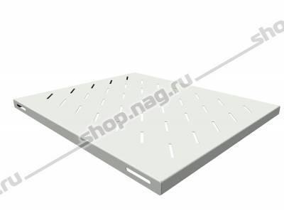 Полка стационарная для шкафов глубиной 800мм, (глубина полки 550мм) распределенная нагрузка 20кг, цвет-серый (