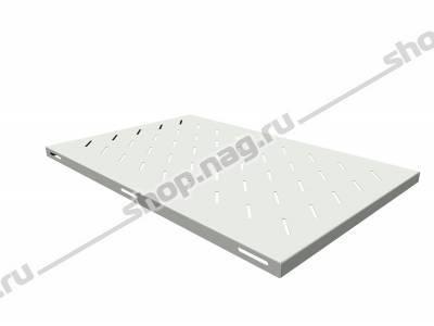 Полка стационарная для шкафов глубиной 1000мм, (глубина полки 710мм) распределенная нагрузка 20кг, цвет-серый