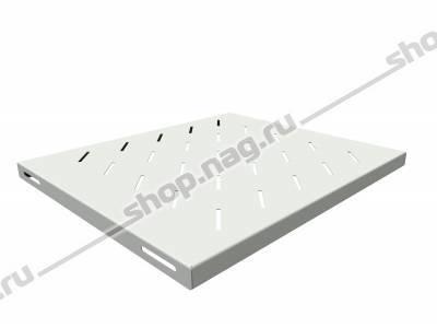 Полка стационарная для шкафов глубиной 600мм, (глубина полки 400мм) распределенная нагрузка 20кг, цвет-серый (