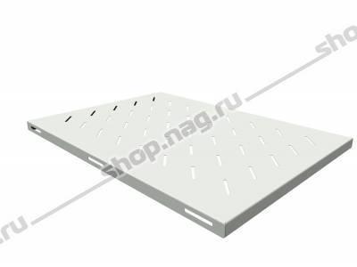 Полка стационарная для шкафов глубиной 900мм, (глубина полки 650мм) распределенная нагрузка 20кг, цвет-серый (