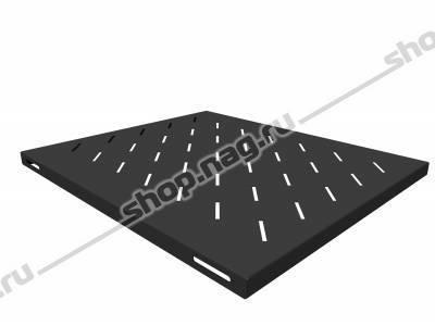 Полка стационарная для шкафов глубиной 800мм, (глубина полки 550мм) распределенная нагрузка 20кг, цвет-черный