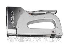 """Степлер для скоб """"T-36"""" 2-в-1: тип 36 (10-14 мм) и тип 28 (9-11 мм), ЗУБР Профессионал"""