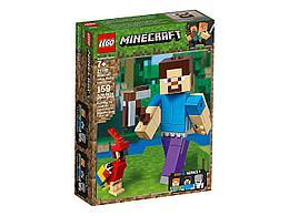 """Lego Minecraft Большие фигурки """"Стив с попугаем"""" 21148"""