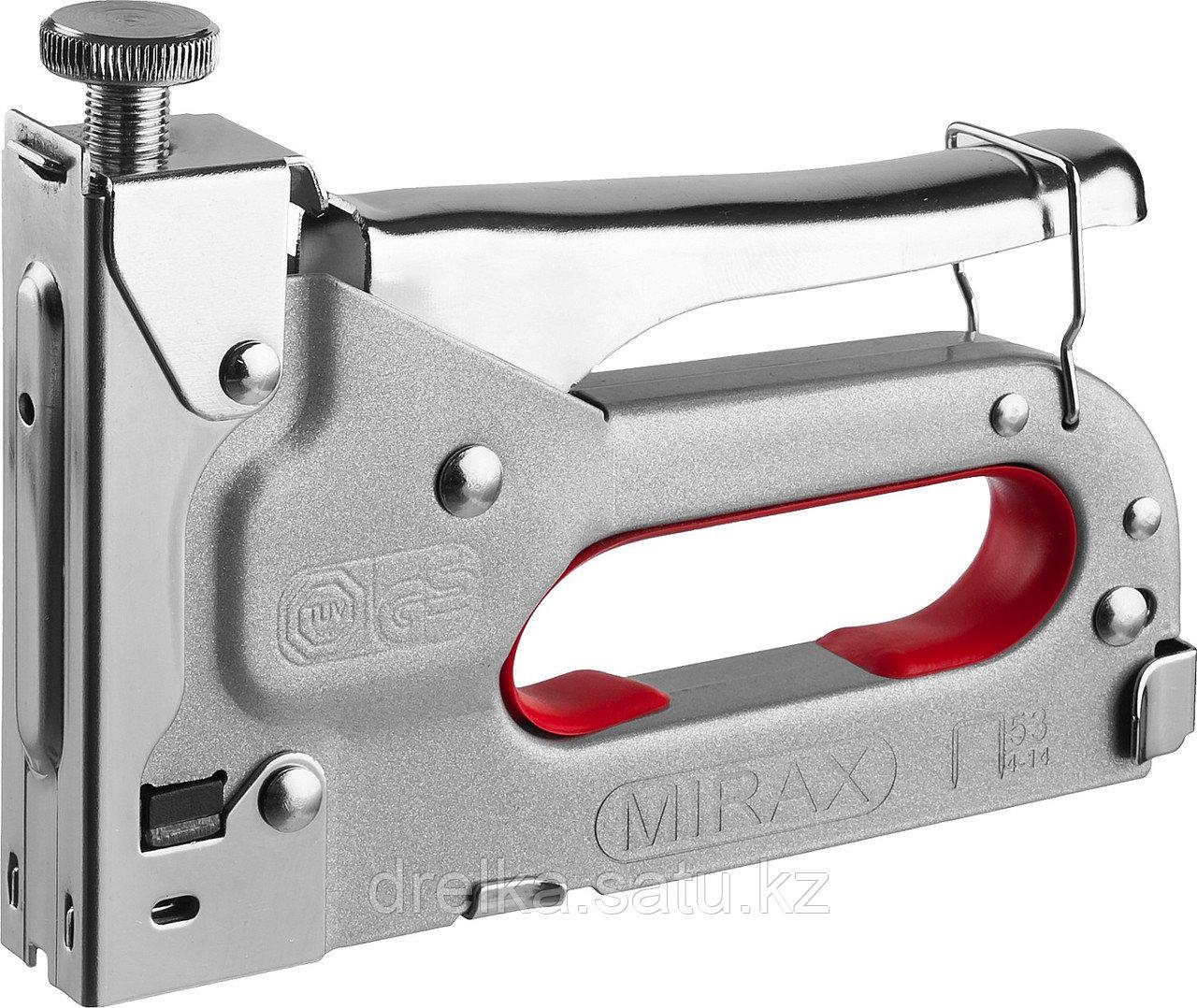 Степлер с регулировкой силы удара, металлический корпус, для тонкой скобы тип 53 (4-14 мм), MIRAX