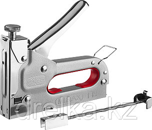 Степлер с регулировкой силы удара, металлический корпус, для тонкой скобы тип 53 (4-14 мм), MIRAX, фото 2